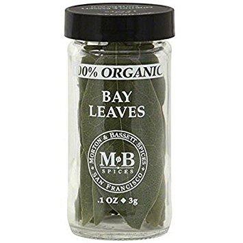 MORTON & BASSETT, Seasoning, Og1, Bay Leaves, Pack of 3, Size .1 OZ, (Gluten Free Kosher Yeast Free 100% Organic)
