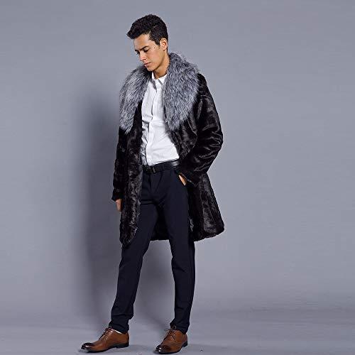 Fausse Jacket Homme Veste Argent Coat Chaude Manteau En Blouson Trtrench Subfamily coat Fourrure Chaud De D'hiver Outwear Col Long d4I6nqw