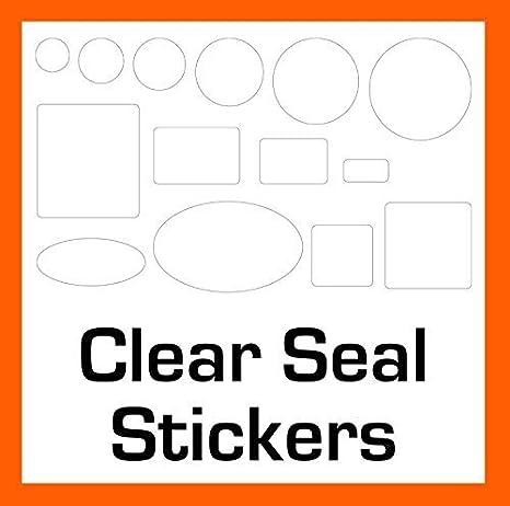 500 trasparente/trasparente giuntura adesivi/etichette - 14 dimensioni a scelta - adesivo permanente - 25 x 38mm Rectangles Audioprint