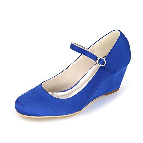 L@YC Pendiente De La Mujer De La Boda Tacones altos/Boda/Ropa Marfil Blanco Multicolor 9140-02 Personalizados Blue