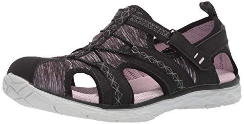 Dr. Scholl's Shoes Women's Andrews Fisherman Sandal, Black Nubuck/Fabric, 8.5 M US