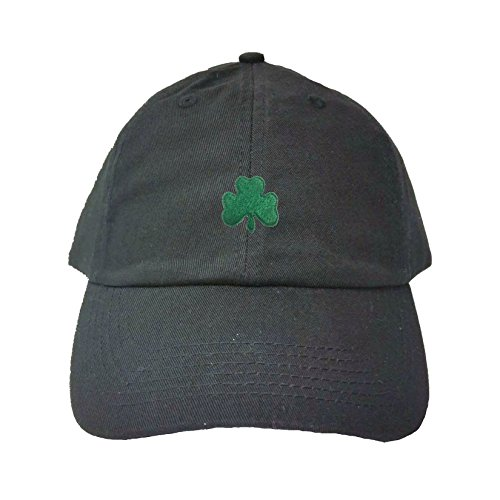 Go All Out Adjustable Black Adult Shamrock St. Patrick's Day Embroidered Dad Hat