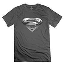 Jiuzhou Men's Tshirt Superman Logo XL DeepHeather