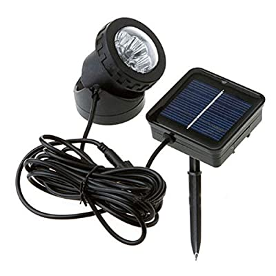 EUGNN Solar Fish Tank Light, Waterproof Submersible Lamps Projector Light with 6 LEDs,Landscape Spotlight Underwater Lights for Outdoor,Garden,Pond,Yard,Wall,Path