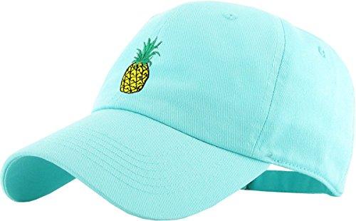 - KBSV-021 MIN Pineapple Dad Hat Baseball Cap Polo Style Adjustable