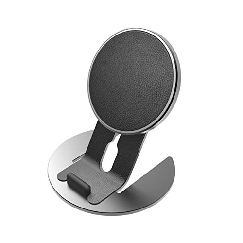 WANGCHAO Desktop Mobile Phone Wireless Charger Bracket, Ultra-Thin Metal Body 15W Fast Charging Multi-Protection Magnetic Function Can Be Split Charging,Black