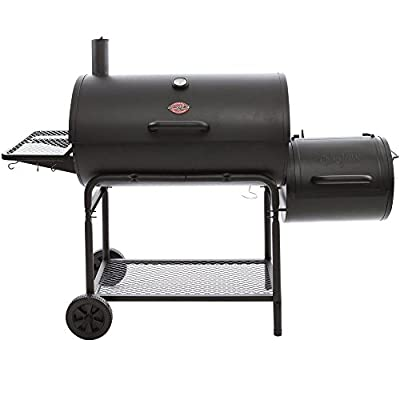 Char-Griller Smokin' Champ Charcoal Grill Horizontal Smoker in Black