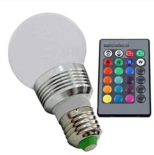 Lingstar Retro Led Color Changing Light Bulb With Remote Control Flash Or Strobe Mode Energy Saving Lamps