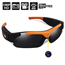 16GB 1080P HD Video Sunglasses Camera Hidden Video Recorder, Support Photo TakingFunction, UV400 Polarized Lens