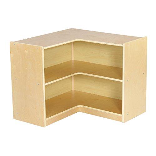 ECR4Kids Birch Corner Classroom Storage Cabinet with Casters, Natural, 24'' H by ECR4Kids