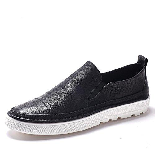 Mens Klassiska Tillfälliga Loafers - Driving Mockasiner Mjuk Slip På Skor 170.128 Svarta