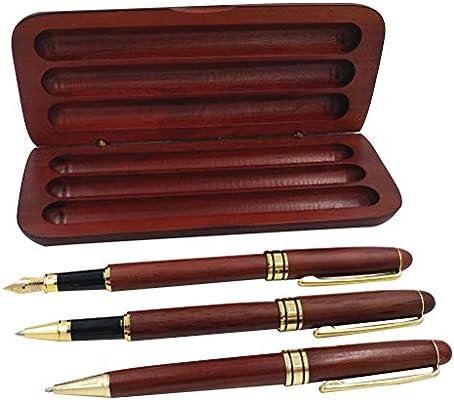 STOBOK Estuche de madera con estuche de arce de regalo Bolígrafo Pluma estilográfica Pluma de gel para hombres Firma Oficina: Amazon.es: Oficina y papelería