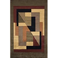 Momeni Rugs NEWWANW-06POM2030 New Wave Collection, 100% Wool Hand Carved & Tufted Contemporary Area Rug, 2 x 3, Pomegranat