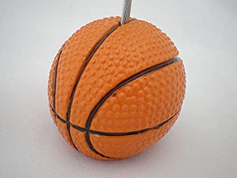 5Pcs Sport Game Ball Stand Alligator Wire Memo Photo Clip Holder,Table Place Card Holder,Sport Event Display,Wedding Party Favor Fusheng Soccer Shape