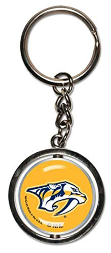 Bundle 2 Items: NHL Nashville Predators 1 Key Ring Spinner and 1 Stwrap Bag Id by WinCraft (Image #1)