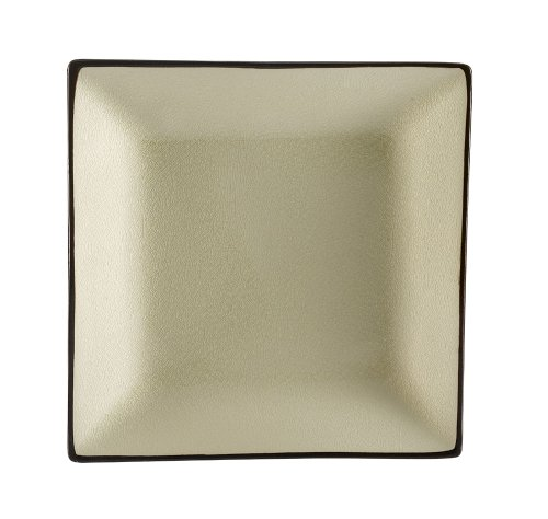 - CAC China 6-S21-W Japanese Style 11-1/2-Inch Creamy White Square Plate, Box of 12