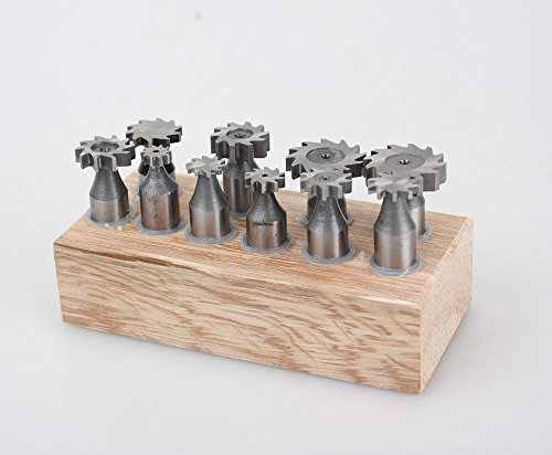 AccusizeTools - 10 Pcs HSS Woodruff Key Cutters Set, #3800-1101 by Accusize Industrial Tools