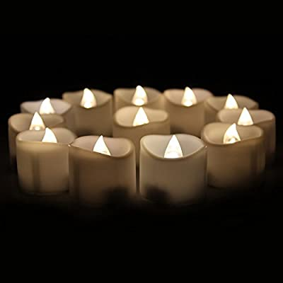XABL Battery Flameless LED Flickering Tealight Candles for Wedding Party Holiday Safe Smokeless and No Heat