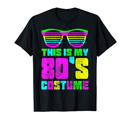 80s Costume T-Shirt Vintage This Is My Sunglasses Laser Gift ()