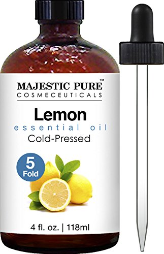 Majestic Pure Lemon Oil, Therapeutic Grade, Premium Quality Lemon Oil, 4 fl. - Mens Fragrance Discount Silver