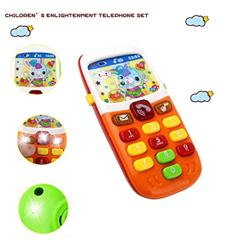 LtrottedJ Baby Phone Toys Music Toddler Phone Early Educational Learning Toy Gift for Kids -