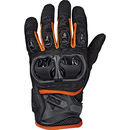 IXS Motorradhandschuhe kurz Motorrad Handschuh Montevideo Air S LT Handschuh schwarz/grau/orange 3XL, Herren, Tourer…
