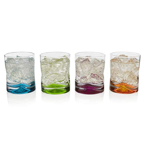 - Libbey Impressions Colors Rock Glasses, Set of 4