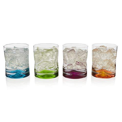 Libbey Impressions Colors Rock Glasses, Set of 4