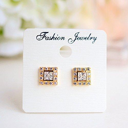 - usongs 925 needles classic square zircon diamond stud earrings fashion simple earrings earrings women girls models