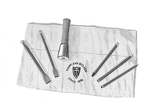 Stone Sculpture Supplies - HARD STONE HAND CARVING SET WITH ROUND HAMMER