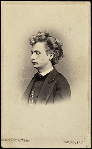 Poster Portrett av Edvard Grieg Norway Wall Art Print A3 replica