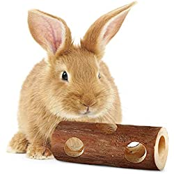 SunGrow Fresh Pine Chew Log for Rabbits 100% Natural Biodegradable Lumber- Contemporary Textured Design - Provides Physical and Psychological Benefits - Ideal for Sussex, Lop and Chinchilla