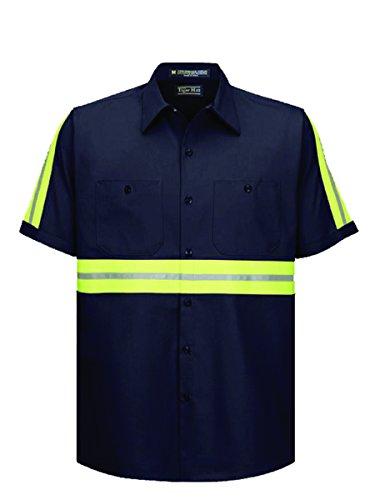 Enhanced Visibility Work Shirt - Tiger Hill High Visibility Work Shirt - Short Sleeves (Large)