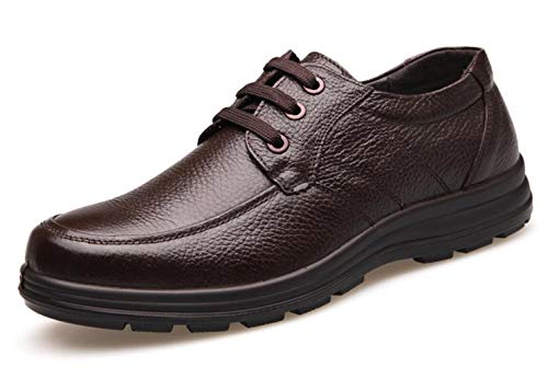 Shiney Men's Shoes Soft Bottom Casual Leather First Layer Pelle Bovina Business Sport Carriera negli Uffici Brown