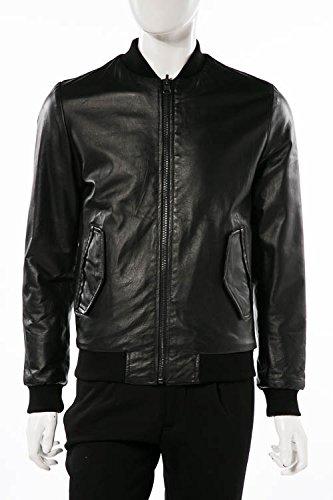 (ダニエレアレッサンドリーニ) DANIELEALESSANDRINI レザージャケット ブラック メンズ (I91393806) 【並行輸入品】 B07FR4CY86 46 ブラック ブラック 46