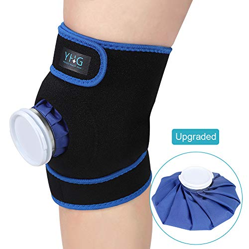 Ice Knee Brace, Knee Support Brace with Reusable Ice Pack for Hot Cold Therapy, Compression Ice Wrap for Arm, Elbow, Wrist, Knee, Calf, Joint Pain Relief and Promote Recovery