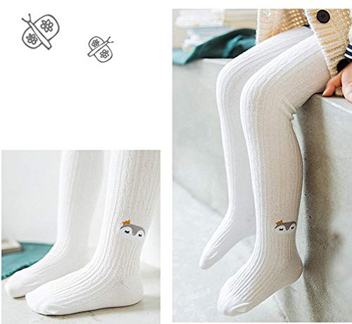 QandSweet Toddler Girls Tights Knit Cotton Pantyhose Dance Leggings Pants Stockings Animal Head 1-2T by QandSweet (Image #1)