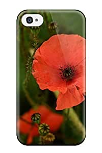 Defender Case For Iphone 4/4s, Poppy Flower Pattern by lolosakes