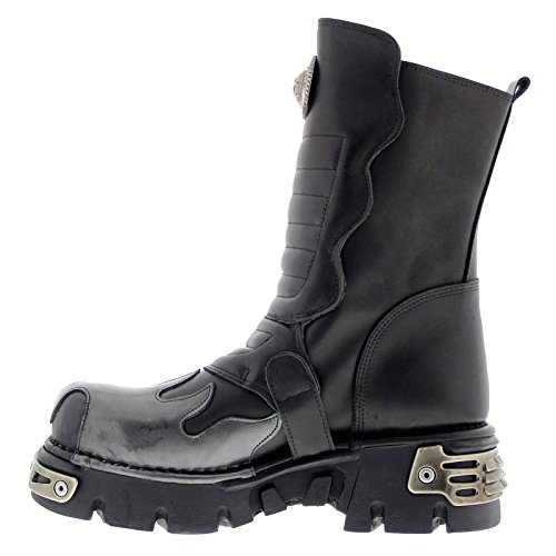 New Rock Mens M.591X-S2 Leather Boots Black