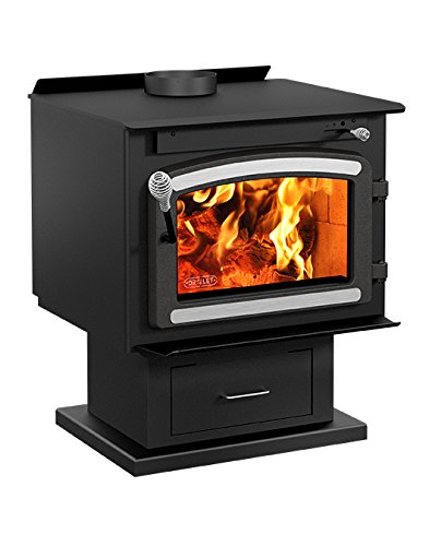 (Drolet Classic Wood Stove with Blower - 75,000 BTU, EPA-Certified, Model# DB03081)