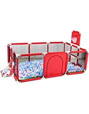 Large Space Baby Play Yard - Portable Indoor Outdoor Baby Playpen Toddlers Children Safety Ball Pit Fun Activities Popular Toys (Not Includes Balls)