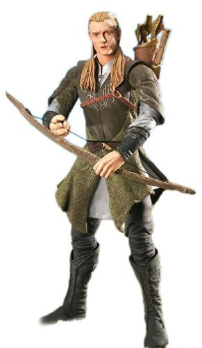 "Toybiz Lord Of The Rings Return Of King 11"" Deluxe Poseable Legolas Figure"