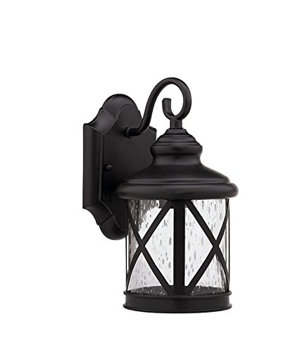 ARVI's LED Porch Lantern Black CAST Aluminum HOUSING Bubble Glass 9 W DOB -