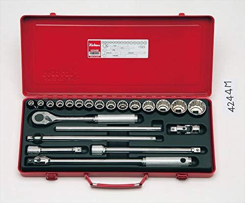 コーケン 1/2(12.7mm)SQ. ソケットセット 22ヶ組 4244M