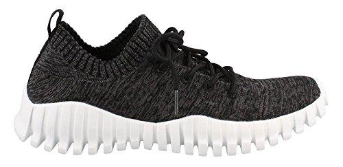 Bernie Mev Women's, Gravity Lace up Sneakers Black/Grey