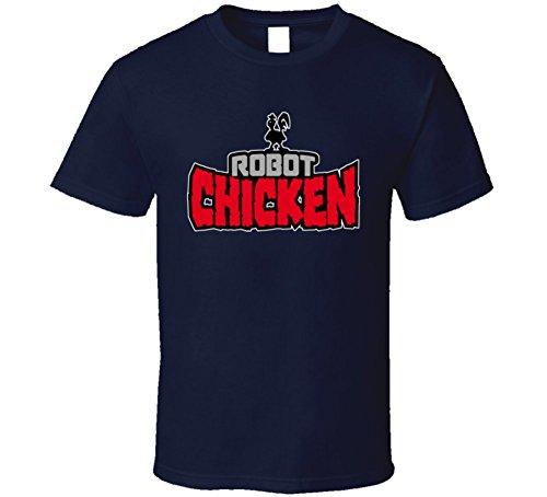 T-Shirt Bandit Robot Chicken Tv Show Logo T Shirt S Navy