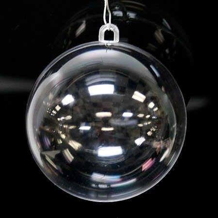 Clear Plastic Fillable Ball Ornaments Shatterproof DIY Balls For Christmas Wedding Party Decor - pack of 12 (80mm) (Transparent Christmas Ornaments)