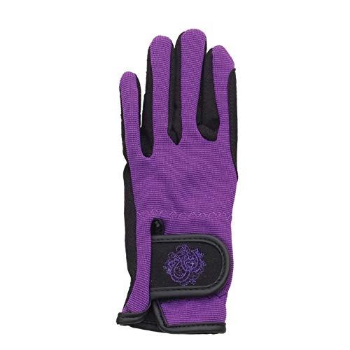- Ovation Child's Horseshoe Gloves Black/Wisteria Size B