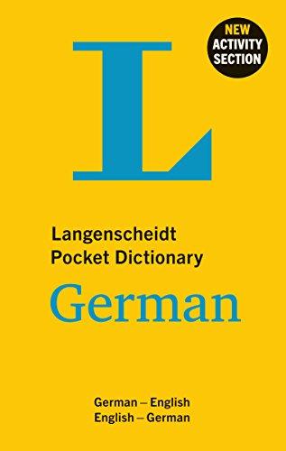 Langenscheidt Pocket Dictionary German (Langenscheidt Pocket Dictionaries) (The Best German Dictionary)