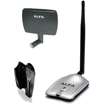 Alfa Network AWUSH mW USB Wifi card and antenna 5 dBi